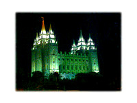 SLC Temple the night Kenzie was born